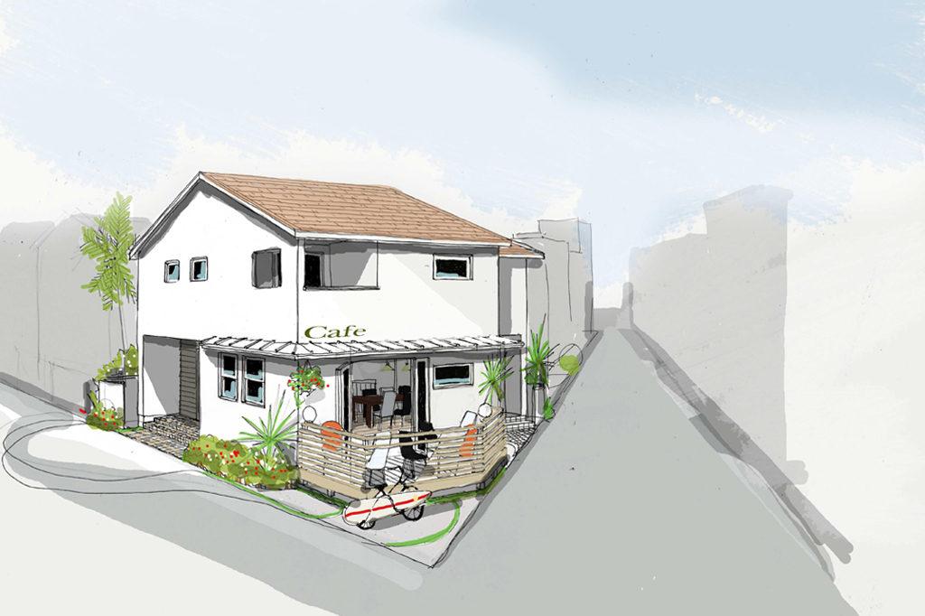 【新築】海風を感じるカフェ併設住宅(逗子市)