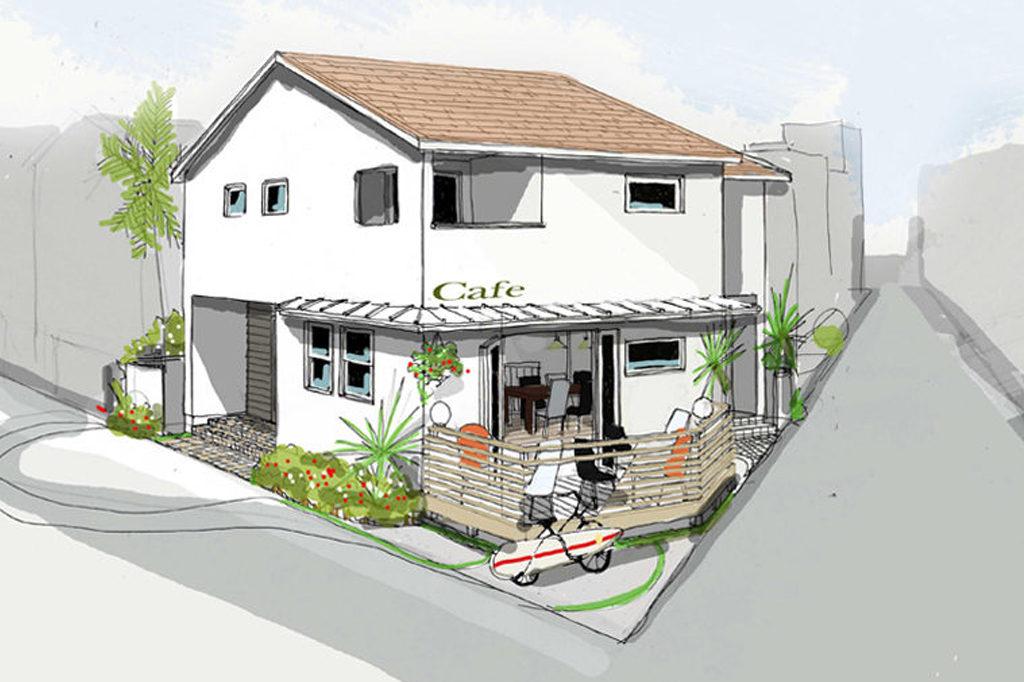 海風を感じるカフェ併設住宅(逗子)