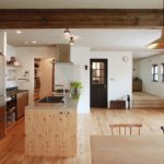 回遊動線キッチンと玄関から直接つながるパントリー収納